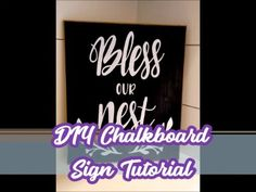 The Easiest Way to Make a DIY Chalkboard Sign! DIY Chalkboard tutorial using contact paper as a stencil. Chalkboard Signs, Chalkboard Easel, Chalkboards, Cricut Tutorials, Cricut Ideas, Teacher Signs, How To Make Stencils, Diy Baby Gifts, Cricut Craft Room