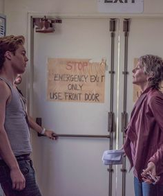Reedus McBride Daily, Melissa McBride on the set of The Happys with Jack...