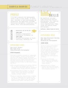 Resume Template   Rivet Deck Yellow – Loft Resumes