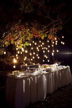 candlelight buffet..