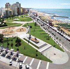 Plaza España, Mardel Plata, Costa Atlantica, Argentina