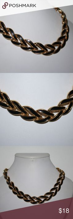 """Vintage Napier 16"""" gold and black necklace 16 inches long, stamped Napier. Beautiful black enamel, perfect condition. no wear seen.  Buy from me with confidence! I have sold over 400 items with a 5 star rating! If you have any questions, do not hesitate to ask.  Looking at a few things in my shop? Put a bundle together, comment on an item that you are ready to check out and let me send you an even better offer!  Thank you for visiting :) Free gifts with every purchase! napier Jewelry…"""