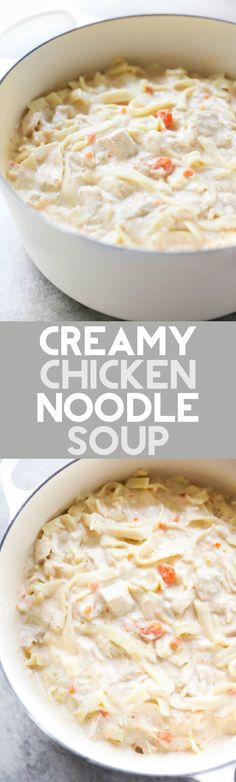This Creamy Chicken Noodle Soup is one of my family's favorites! The flavor is perfection and the creaminess really knocks it out of the park!