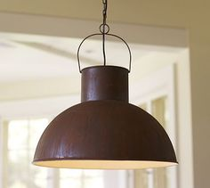 Mansfield Barn Industrial Pendant #potterybarn I think these would look good over my island in kitchen