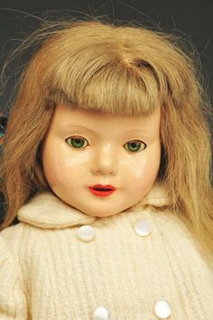 "Close up of 17"" composition doll from the ""American Children"" series, United States, 1936-39, designed by Dewees Cochran for Effanbee Doll Company."