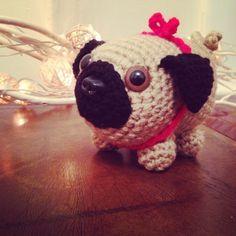 crochet pug doll by cuteashook from 70+ Inspiring #Crochet Photos