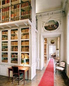 Bibliothèque Ecole Militaire à Paris,France. Beautiful light filled library - what a pleasure it would be to work there. Beautiful Library, Dream Library, Interior Exterior, Interior Design, Home Libraries, Paris Ville, Cozy Nook, Palaces, Book Nooks