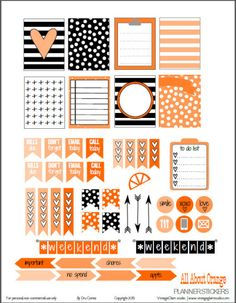 All About Orange Planner Stickers