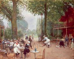 Jean BÉRAUD - Le Chalet du Cycle au Bois de Boulogne, Paris (Jean-Georges Béraud, 1849-1935)