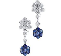TAK FOOK - 18K SAPPHIRE DIAMOND EARRINGS   Luxify   Luxury Within Reach