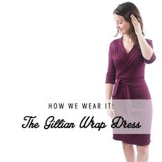 See how we style the Gillian Wrap Dress by Muse Patterns. This classic silhouette is super flattering and comfortable! | Indiesew.com
