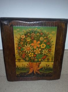 Vintage Fall Blossom Tree Wall Hanging, Tree Art, Tree of Life Art, Fall Tree Art, Retro Tree Art, Rustic Home Decor, Wooden Wall Art by Lalecreations on Etsy