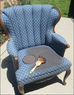 Painting fabric chairs instead of re-upholstering...I thought it was going to be a mess and I was WRONG.