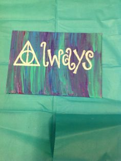 Harry Potter Deathly Hallows Always 5x7 Painted by OhHeyyItsRay, $10.00