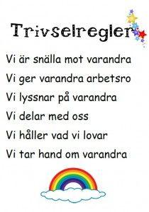 trivselregler Teacher Education, School Teacher, Pre School, Special Education, Learn Swedish, Montessori Practical Life, Kids Schedule, Educational Activities For Kids, Social Skills