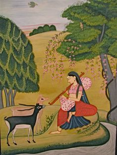 Kangra Art Indian Miniature Painting, Indian classical music started as a way for the sages of India and surrounding areas to show their devotion to the divine.