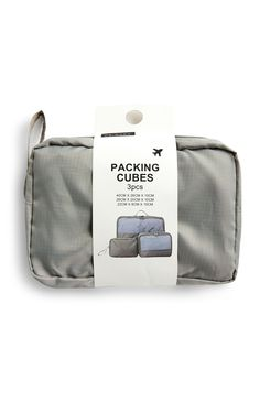Grey Packing Cubes Packing Cubes, Girls Pajamas, Girls In Leggings, Boys T Shirts, Primark, Baby Accessories, Travel Essentials, Kids Girls, Girls Shoes