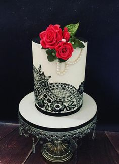 - cake by Seema Tyagi Beautiful Cake Designs, Beautiful Cakes, Amazing Cakes, Fancy Wedding Cakes, Wedding Cake Designs, Cute Cakes, Pretty Cakes, Fondant Cakes, Cupcake Cakes