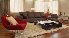 Living Room In Brown And Red Colors  Wallpaper Ax : 2048x1152px Home and Interior Ideas #4166 ~ Mediaty.com
