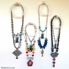 Mich L. in L.A.: Invisible Upcycled Necklace Display