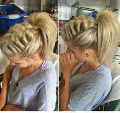 Adorable braid to ponytail!