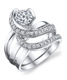 Vision Engagement Ring with Wedding Band - Mark Schneider Design