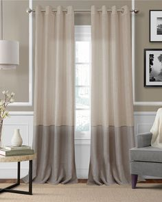 Elrene Trio Chic Window Treatment Collection - Window Treatments - For The Home - Macy's Window Panels, Window Coverings, Window Treatments, Grommet Curtains, Drapes Curtains, Color Block Curtains, Drapery Panels, Taupe Walls, Farmhouse Curtains