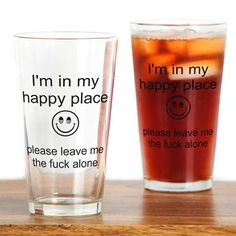 Happy Place Pint Glass on CafePress.com