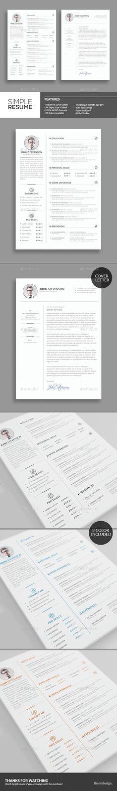 Resume Template, Graphics and Fonts - resume download