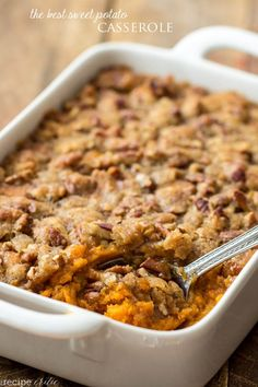 I have a small confession.   I do not like sweet potatoes.  I have tried to like them but they just aren't my thing.  My family loves them and Thanksgiving isn't complete without a Sweet Potato Cas...