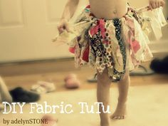 DIY fabric tutu when I have a girl