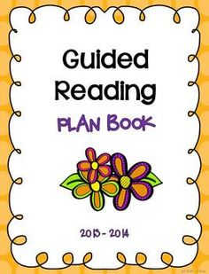 A guided reading plan & data book to keep you organized at the reading table!