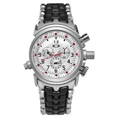 09d5d5b9053 (Limited Supply) Click Image Above  Oakley Mens 12 Gauge Chronograph  Stainless Watch - Black Rubber Strap - White Dial -