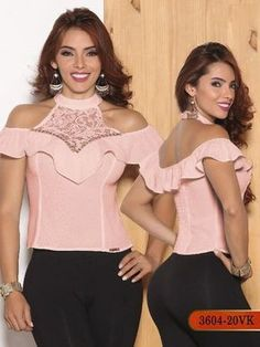 Blusa Moda Colombiana Vikats - Ref. 252 -3604-20 VK Rosado