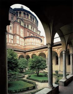 Santa Maria delle Grazie, Donato Bramante's Cloister  (approximately 1495) #Milan