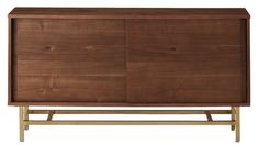 InezCredenzaF18 Dining Room Storage, Dining Room Furniture, Home Furniture, Recessed Shelves, Modern Home Bar, Linens And More, Building Furniture, Woodworking Kits, Walnut Veneer