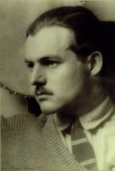 Ernest Hemingway by Man Ray, 1923. Midwest MS Butcher Bx.41 Fl.#1714.