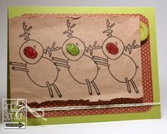 I just adore Arielles reindeer chorus line.. I thin it's great.. and how fun are the glitter noses..   The Alley Way Stamps
