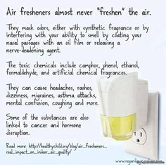 Say NO to commercial air fresheners !! Your health is at stake !!