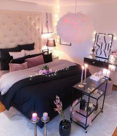 Small Room Bedroom, Room Ideas Bedroom, Cozy Bedroom, Master Bedroom, Bedroom Decor For Women, Girl Bedroom Designs, Small Bedroom Ideas For Women, Woman Bedroom, Girls Bedroom
