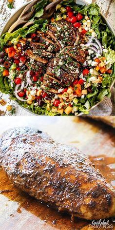 Best Salad Recipes, Chicken Salad Recipes, Healthy Dinner Recipes, Cooking Recipes, Healthy Spring Recipes, Summer Chicken Recipes, Greek Chicken Recipes, Chicken Salads, Salad Recipes Video