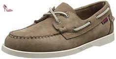 Sebago Docksides - Chaussures bateau - Homme - Gris (Dk Taupe) - 44.5 EU - Chaussures sebago (*Partner-Link)