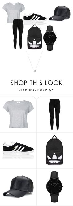 """Title"" by gracemarx ❤ liked on Polyvore featuring RE/DONE, Levi's, adidas, Topshop, CLUSE and Links of London"