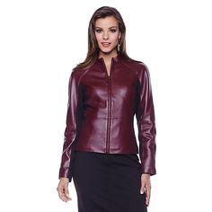 Hal Rubenstein Lambskin Leather and Ponte Jacket