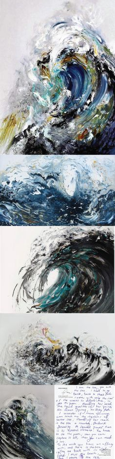 "try to paint the sound of the sea"", Maggi Hambling. The World's 12 Most Important Female Painters on . (Image via ) Arte Gcse, Painting Inspiration, Art Inspo, Maggi Hambling, Female Painters, Illustration Art, Illustrations, A Level Art, Ocean Art"