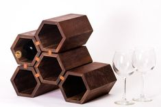 drona  hexagonal wine rack   featured in the ETSY by stericdesign, $325.00