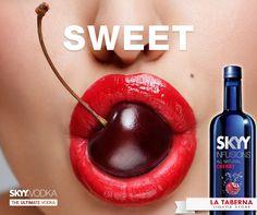 SKYY Vodka Cherry  Lo encuentras en La Taberna liquor store a nivel nacional y en nuestra Web lataberna.com.ec Skyy Vodka, Liquor Store, Lips, Fruit, Eat, Jewelry, Google, I Found You
