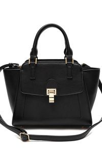 Solid Flap Over Satchel Bag With Strap
