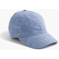 fe81adb4921 J.Crew Striped Cotton Baseball Cap ( 36) ❤ liked on Polyvore featuring  accessories