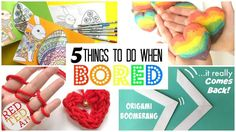 5 GREAT DIYs Things to Do When Bored - DIYs for boring days! Kids bored? Need something interesting, fun and easy for them to do. Check out these 5 wonderful crafts to do when bored. Learn something new, be creative and play with what you make. 5 easy DIY